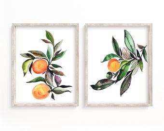 Colorful Orange Print Set of 2