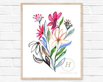 Wildflower Watercolor Print
