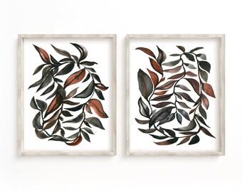 Leaves Watercolor Prints