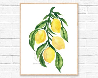 Modern Kitchen Farmhouse, Lemon Wall Decor
