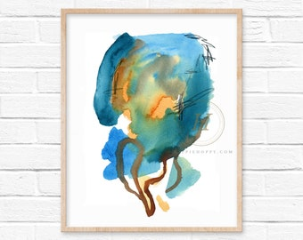 Abstract Watercolor Print Watercolor