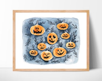 pumpkin watercolor watercolor pumpkin pumpkin painting watercolor pumpkin autumn watercolor painting fall halloween halloween decor original