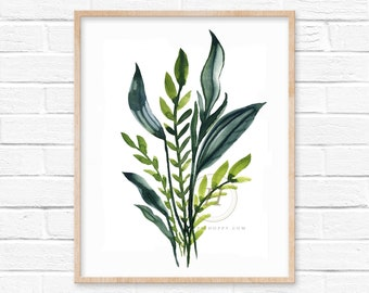 Leaves Watercolor Print