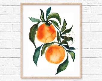 Citrus Orange Art Print by HippieHoppy