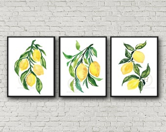 Lemon prints, Set of 3