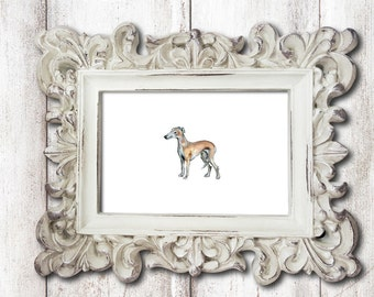 Small Greyhound Dog Print Watercolor Painting Print Watercolor Greyhound Print Greyhound Art Greyhound Wall Art Greyhound Decor Dog Artwork