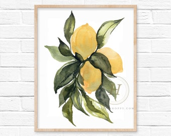 Lemons Watercolor Print