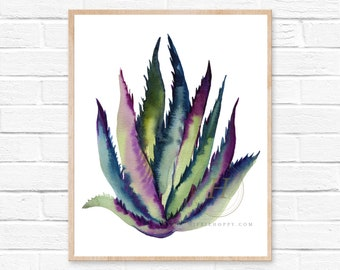 Agave Watercolor Print