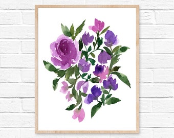 flower watercolor flower painting flowers watercolor watercolor painting watercolor print flower print watercolor flower home decor flower