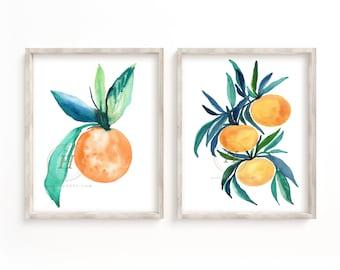 Orange Print Set of 2