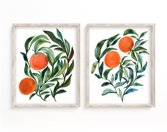 Oranges Watercolor Prints