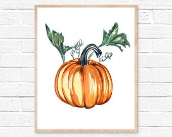 pumpkin watercolor pumpkin watercolor pumpkin painting fall autumn halloween watercolor pumpkin watercolor painting halloween decor original