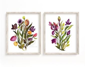Flowers Art set of 2