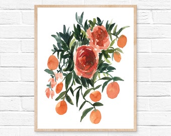 flower watercolor watercolor painting flower painting watercolor print watercolor home decor watercolor art watercolor art print wall decor