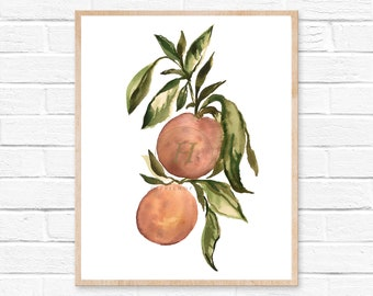 Oranges Wall Print, Orange Watercolor, Watercolor Art, Watercolor Print, Fruit Print, Orange Painting, Kitchen Print