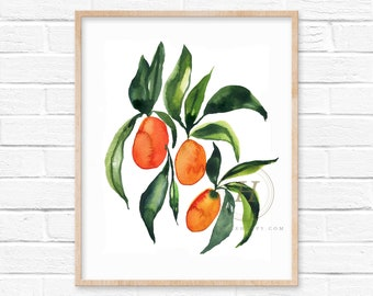 Kumquat Watercolor Art Print