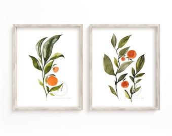Citrus Wall Art Prints set of 2