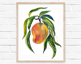 Mango Watercolor Print