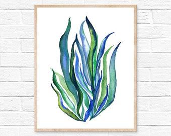 Seaweed Watercolor Print