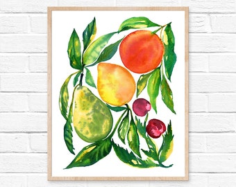 fruit wall art kitchen wall art kitchen decor fruit print kitchen print fruit art tropical fruit kitchen wall decor home decor kitchen art