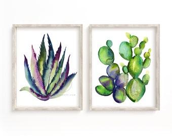 Cactus Wall Art set of 2