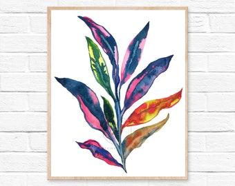 Plant Watercolor Print
