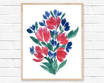 floral watercolor watercolor flowers watercolor print watercolor watercolor flower watercolor painting floral art print wall art nursery art