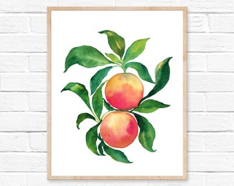 Grapefruit Watercolor Print