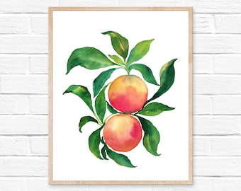 Large Grapefruit Watercolor Print