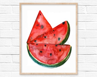 Watermelon Watercolor Art Print