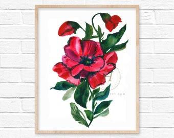 Large Poppy Print