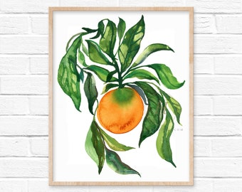 Citrus Watercolor Art Print