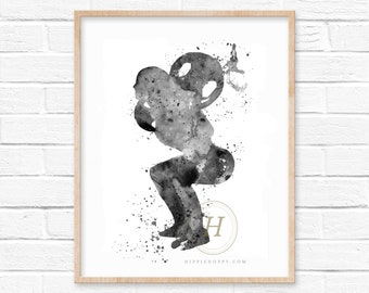 Fitness Watercolor Art Print