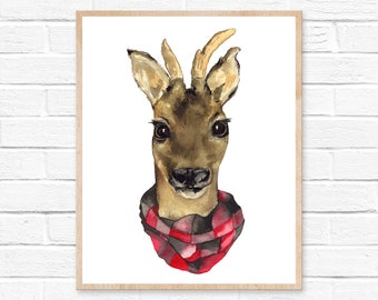 deer watercolor deer painting deer art deer print watercolor painting deer deer wall art watercolor print watercolor deer animal painting