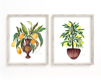 Kumquats and Lemons Prints set of 2 by HippieHoppy
