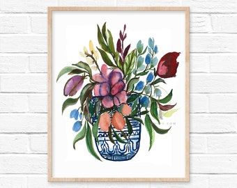 Large Flower Watercolor Art Print