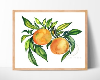 Mandarin Orange Watercolor Print