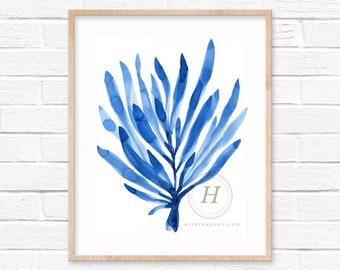 Seaweed Watercolor Art Print