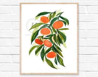Tangerine Watercolor Print