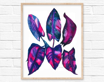 Leaves Colorful Print by hippiehoppy