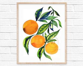 Oranges Watercolor Art Print
