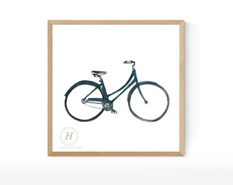Bike Watercolor Print