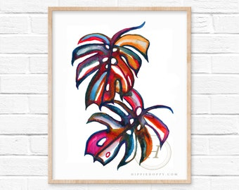 Monstera Deliciosa Painting by HippieHoppy