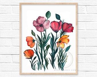 Flowers Watercolor Art Print by HippieHoppy