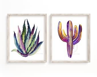 Cactus Art set of 2