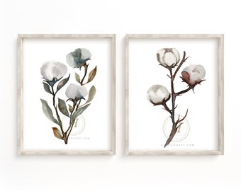 Large Cotton Art Prints set of 2