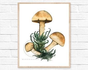 Mushroom Watercolor Print