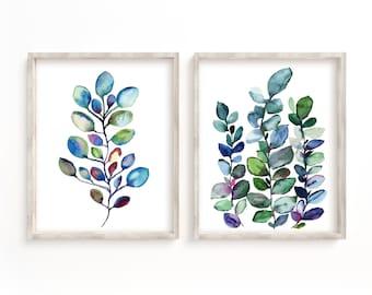 Eucalyptus Art Prints set of 2