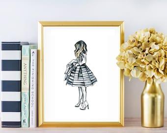 Fashion Watercolor Print