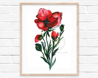 Flower Art Print by HippieHoppy
